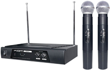 KAM DUAL VHF WIRELESS MICROPHONE SYSTEM