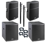 Large 4400 Watt Active PA System 15