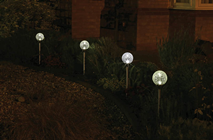Solar RGBWW LED Spike Light Pack of