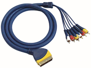 SCART PLUG TO 6 PHONO MALE CABLE