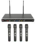 Quad UHF Handheld Wireless Mic Systems
