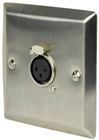 Steel Wallplate with XLR Socket
