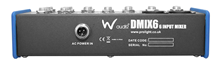 Compact 6 Channel Mixer by W Audio
